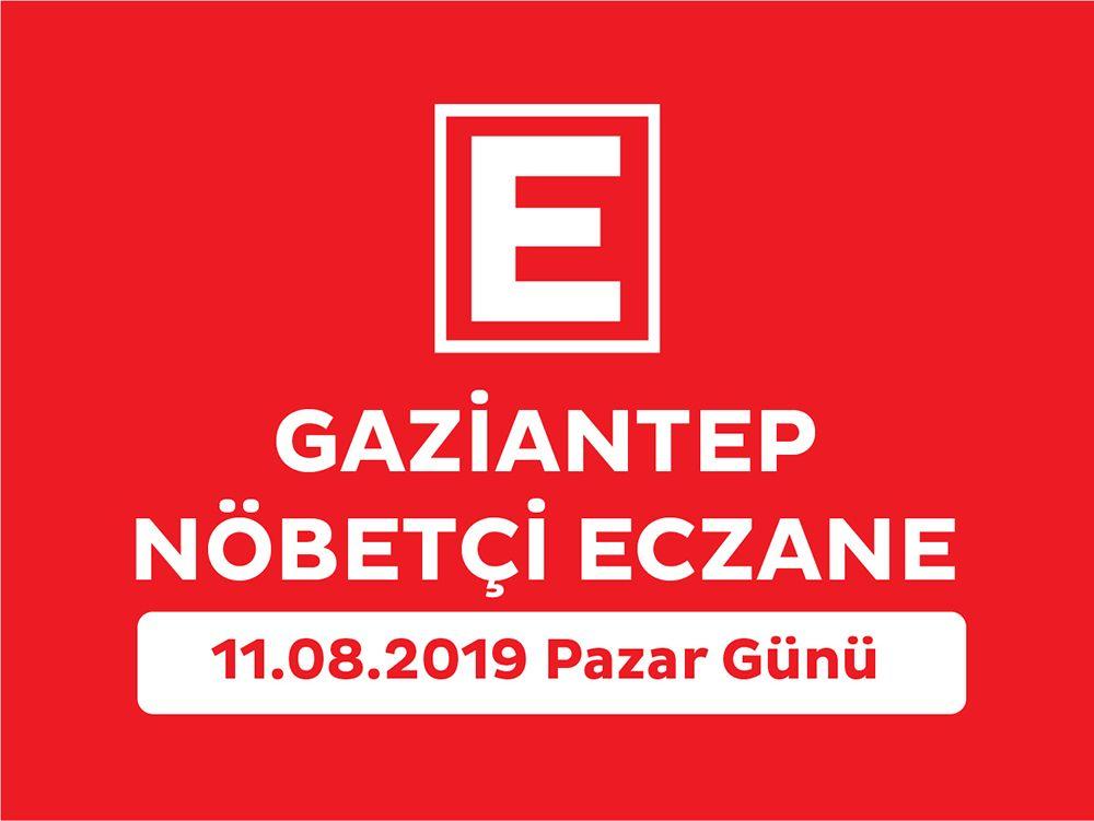 Gaziantep Nöbetçi Eczaneler (11.08.2019 Pazar Günü)